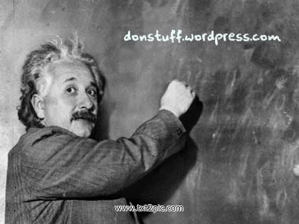 Einstein meets donstuff